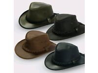 Jack Daw Brisbane leather bush/ Aussie hat (unisex). Perfect for camping/ hiking/ outdoors. RRP £40