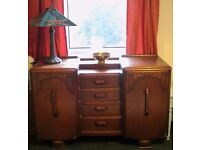 """WELSH SIDEBOARD - FOUR DRAWERS/ TWO SHELVES (55"""" x 36"""" x 20"""")"""