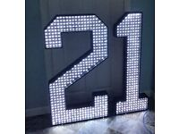 Party Lights - Available to rent 4ft Multi Light / Multi Function Stand Up Celebration Lights