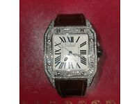 Diamond Cartier Santos 100 XL Box and Papers