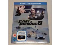 Fast and Furious 8 Blu ray - brand new