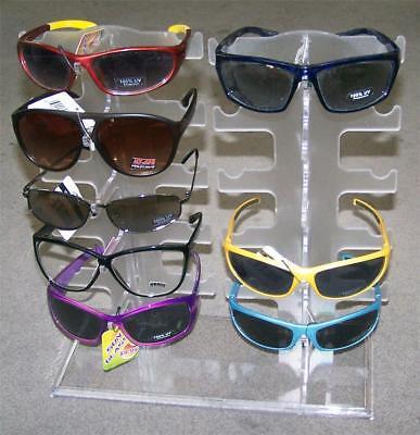 Acrylic Eyewear Display Rack Holds 10 Pair Glasses Counter Sunglass Stand New