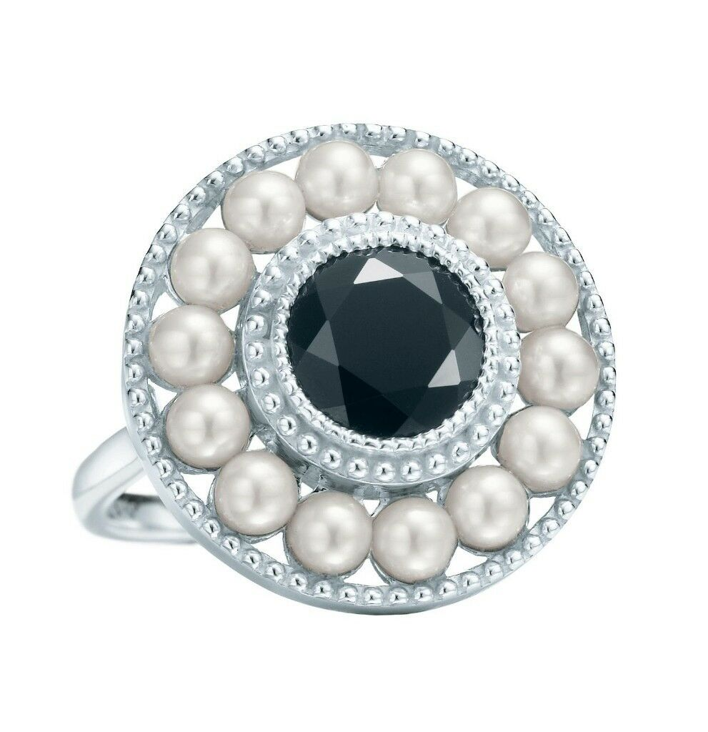 911e85bed 1920s Ziegfeld collection Tiffany fresh water pearls and onyx ring. From  the great gatsby