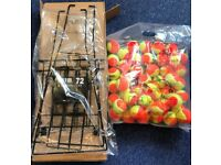 Mini Tennis Stage 2 Orange 48 BAG + Ball Basket ITF Approved
