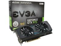 For sale EVGA GeForce 970 GTX