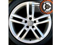 "18"" Genuine Audi A6 S Line twin spoke alloys excellent condition."