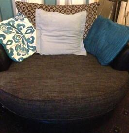 Cuddle chair 3 seater,chair and storage footstall