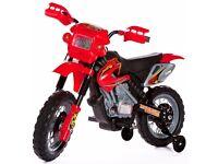 Kids Ride On Motocross Scrambler Motorbike Electric 6V Battery Operated