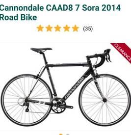 Cannondale CAAD8 sora 7 2014 road bike 54cm