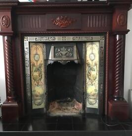 Edwardian style Cast Iron & tile fireplace