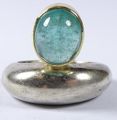 Ring,Silber -925- mit Gold um 18K,8,8gr., RG 52    (260/5008)
