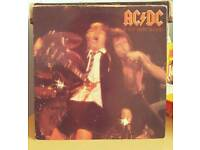 "3 AC/DC 12"" Vinyl LP's. All Original, No Reissues. 2 albums, 1 single."