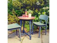 Set of 6 copper top tables grey legs bistro cafe coffee shop bar dining garden beer