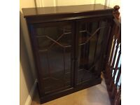 Mahogany Stained Bookcase / Display Cabinet