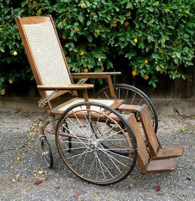 Vintage GENDRON WHEEL CO  Antique Oak Wheelchair Perrysburg Ohio for sale  Fresno