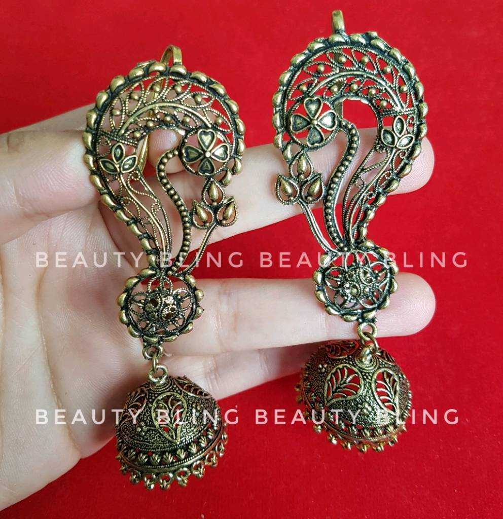 Exotic Indian earrings. FREE UK DELIVERY