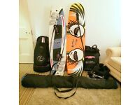 Fantastic Kite Surfing Bundle - 2 Boards, 3 Kites (8,10,12m) 3 bags, bars and rigging, harness etc