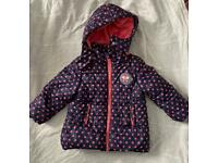 Girls 2-3 years spotty winter coat