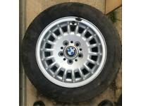 """Genuine BMW E36 3 Series 15"""" Alloy Wheel 7JX15 IS 47 With Good Michelin Tyre."""