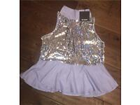 Zara ladies sequin peplum top. Size L. Brand new with tags £15