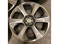 "x4 22"" Hybrid Style Alloys Grey Pol Fits Range Rover Vogue Sport Discovery 4/5"