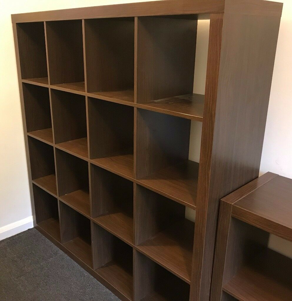 ikea kallax shelving unit brown wood in oxford oxfordshire gumtree. Black Bedroom Furniture Sets. Home Design Ideas