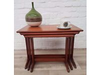 Teak Nest Of Tables (DELIVERY AVAILABLE FOR THIS ITEM OF FURNITURE)