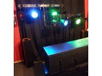 Botex T4 Lighting Showbar, Par Cans, Bulbs, Cases, DMX Cables & Stands