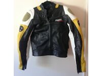 Hein Gericke power slide leather motorcycle jacket. EU size 48