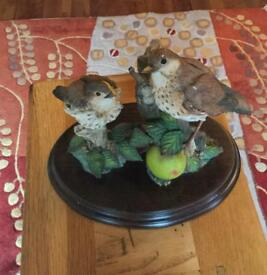 Country Artists Limited Edition Thrush with Young