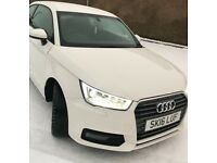 Audi A1 Sport in white with Xenon light package