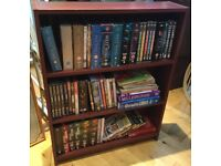 Brown MDF Bookcase with Two Fixed Shelves H32.5in/91cmD6.5in/16cmW25in/64cm