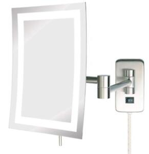 NEW Jerdon JRT710NL 6.5-Inch by 9-Inch LED Lighted Wall Mount Rectangular Makeup Mirror
