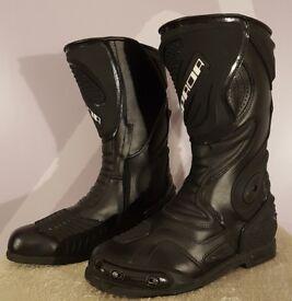 Spada ST1 Waterproof Motorcycle Boots - EU 43 / UK 9 - Road Race Track Race