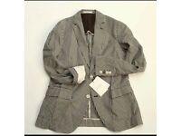 New classy plaid Zara Men check coat/jacket/blazer, Medium