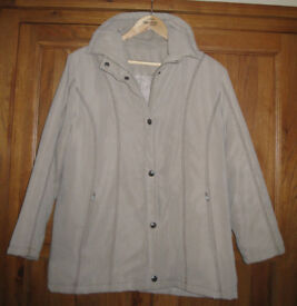 Women's mushroom coloured padded jacket – size 16