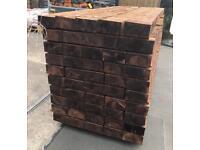 🐛 90 x 190 x2.4m Brown Wooden Railway Sleepers > New