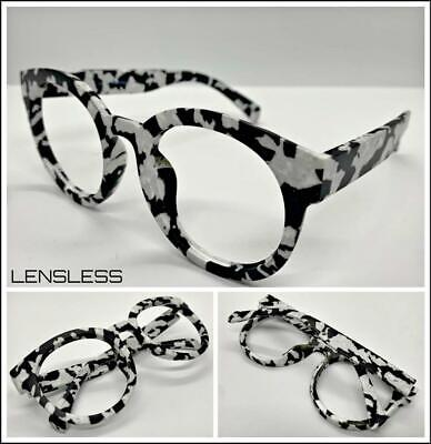 CLASSIC VINTAGE Funky RETRO Style Round Lensless Eye Glasses Frame Only NO (Vintage Round Spectacles)