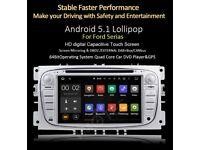 Ford Cars Android 5.1 DVD Player /internet / Radio Quad Core Full Sat Nav Bluetooth Aux Usb Sd
