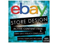Responsive ebay store design and listing template design active content free
