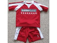 Little Kicks Football kit, age 18m - 2 years, like new