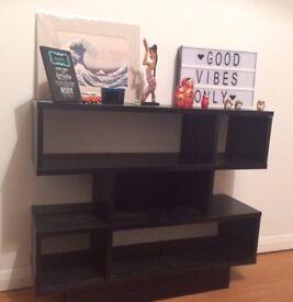 3 tier bookshelf in black