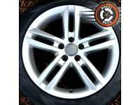 "18"" Genuine Audi S Line twin spoke alloys, excel cond, matching tyres."