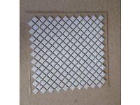 Elegance white mosiac tiles. 30cm x 30cm sheets (4 sheets per box)