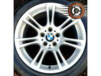 "18"" Genuine BMW M Sport 5 ser alloys staggered perfect cond premium tyres."