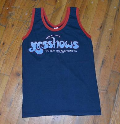 RaRe *1979 YES* vtg rock band concert tour tank-top shirt (S/M) 70s Jon Anderson