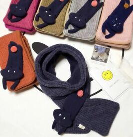 wholesale cute cat scarf, high quality, perfect gift choice, UK stock
