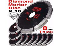 "NEW - 10 Mortar Raking Disc 115mm 41/2"" Diamond Mortar Raking Blade Angle Grinder Disc"