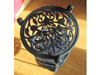 Blue Caste Iron four tiers plant stand