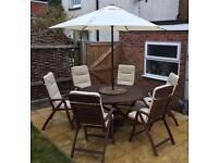 Royal Craft 6 Seater Teak Garden Furniture Set